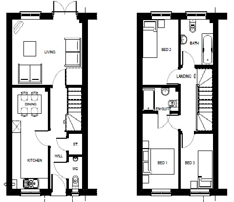 Cavan 3 Bed Floor Plan
