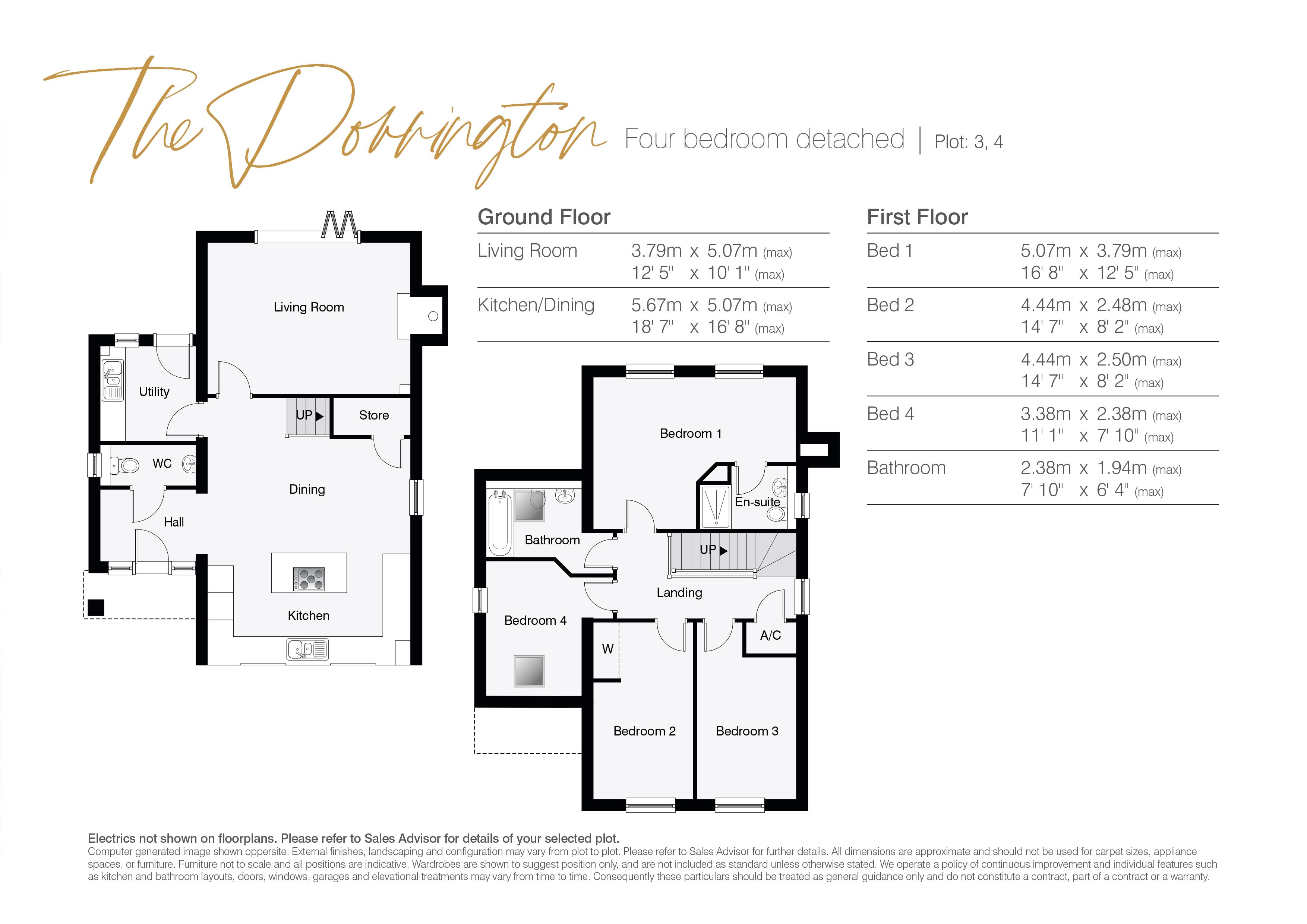 The Dorrington Floor Plans