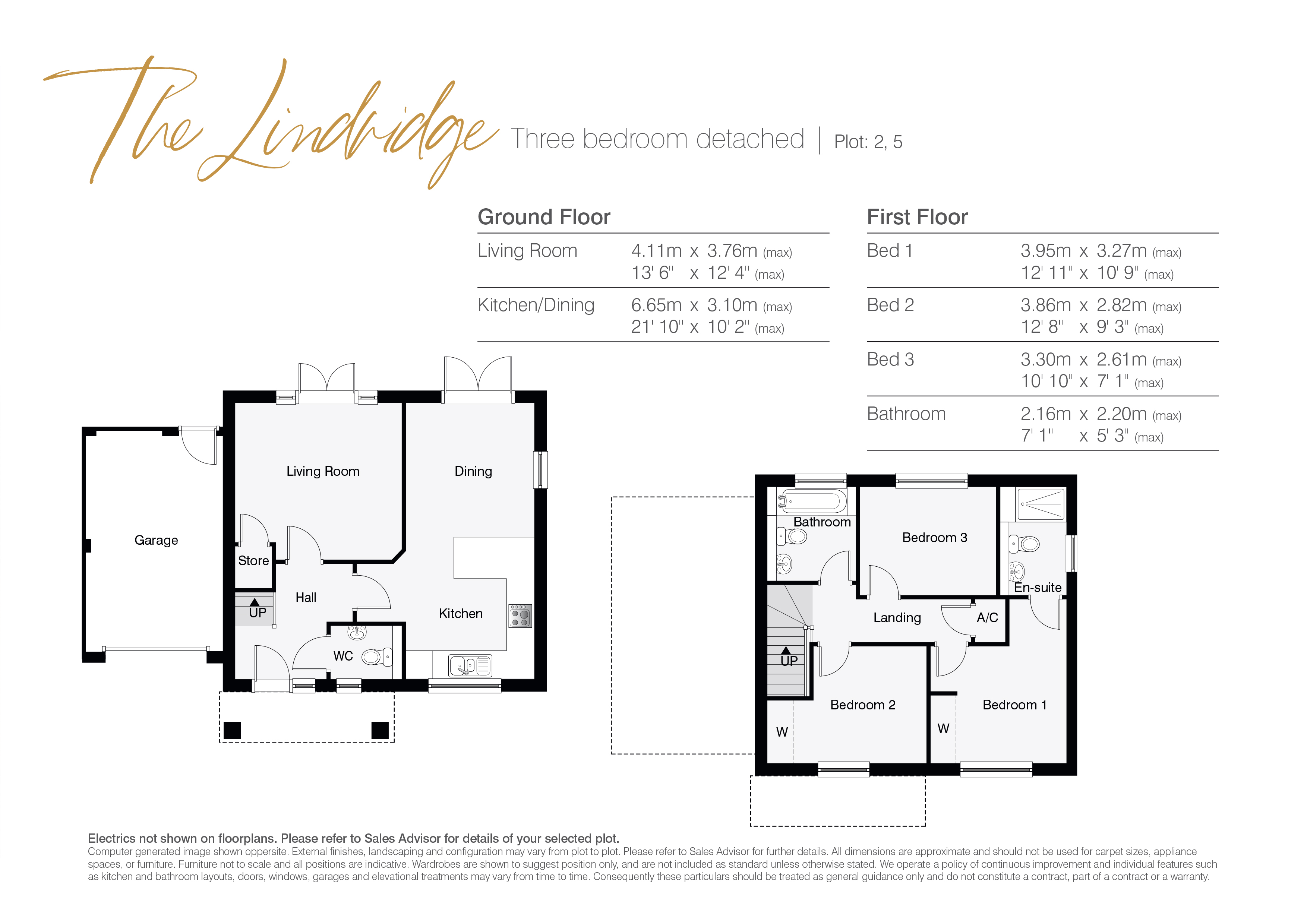 The Lindridge Floor Plans