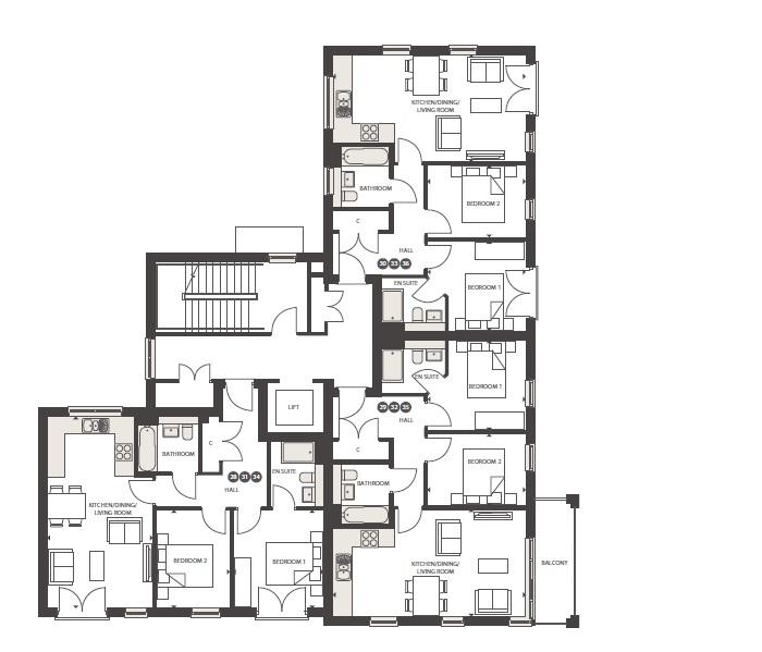 Elderberry House First 2nd 3rd Floor Plan