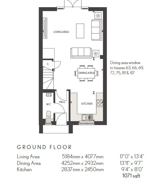 Elsenham Ground Floor Dimensions