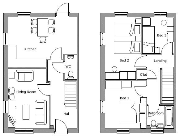 Little Hill Moor 3 Bed Et Plot 14 Floor Plan