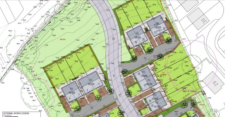Tenbury Road Site Plan Zoomed In