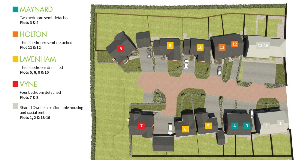 Site Plan With Plot Nos