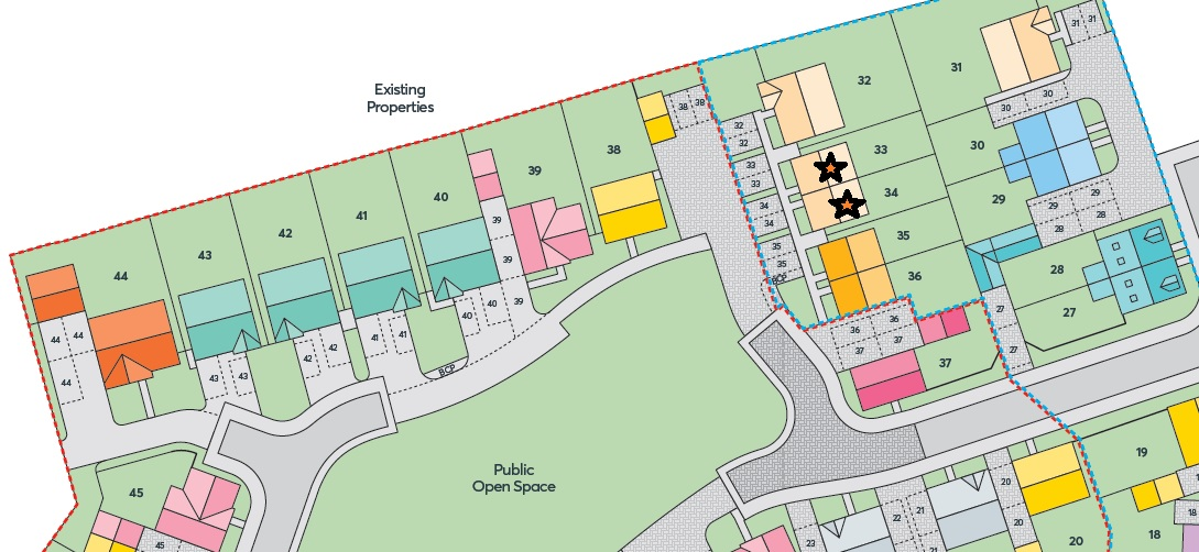 Site Plan Showing Our Plots
